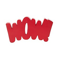 Ben de Lisi Home - Designer red 'Wow!' ornament
