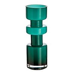Ben de Lisi Home - Designer turquoise glass irregular ridge vase