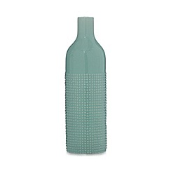 Ben de Lisi Home - Designer green textured bottle vase