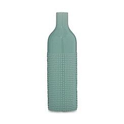 Ben de Lisi Home - Designer green textured bottle vase