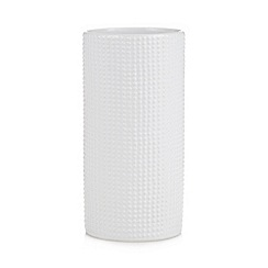 Ben de Lisi Home - Designer white textured cylinder vase