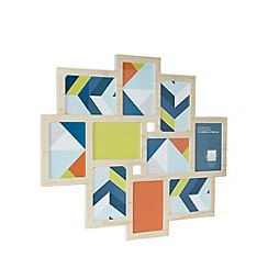 Ben de Lisi Home - Designer light wood multiple aperture photo frame