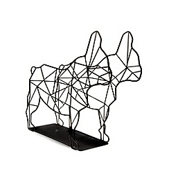 Ben de Lisi Home - Designer black dog wire magazine rack