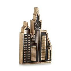 Ben de Lisi Home - Designer wood cityscape ornament