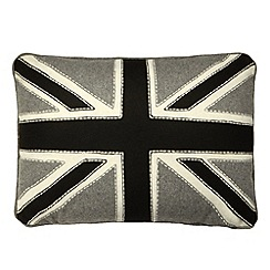 Ben de Lisi Home - Designer grey 'Union Jack' cushion