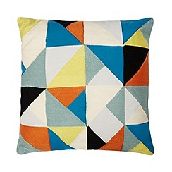 Ben de Lisi Home - Designer grey broken geometric cushion
