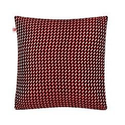 Ben de Lisi Home - Designer red geometric knit cushion