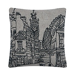 Ben de Lisi Home - Designer grey London outline cushion