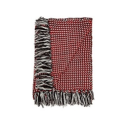 Ben de Lisi Home - Designer red geometric knit throw