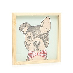 Ben de Lisi Home - Wood dog wall art