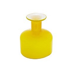 Ben de Lisi Home - Hand blown yellow glass vase