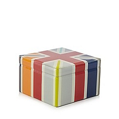 Ben de Lisi Home - Designer red union jack glass box