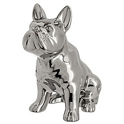 Ben de Lisi Home - Designer silver sitting dog ornament