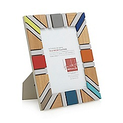 Ben de Lisi Home - Designer wood colour block 'Union Jack' photo frame