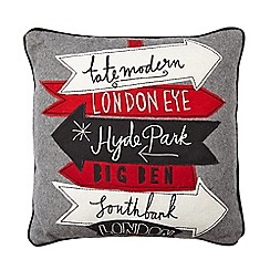 Ben de Lisi Home - Designer grey wool blend London cushion