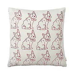 Ben de Lisi Home - Designer red dog cushion