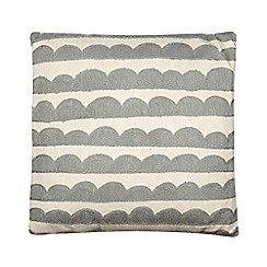 Ben de Lisi Home - Designer light grey scallop striped cushion