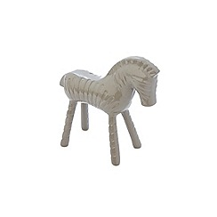 Ben de Lisi Home - Grey aluminium zebra ornament