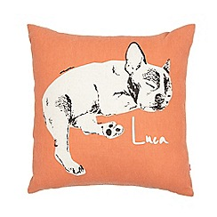 Ben de Lisi Home - Orange 'Luca' bulldog print cushion