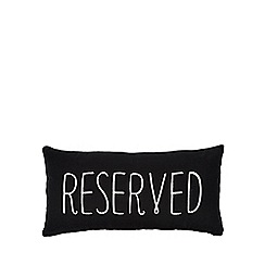 Ben de Lisi Home - Black 'Reserved' cushion