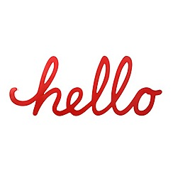 Ben de Lisi Home - Red 'Hello' ornament