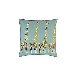 Ben de Lisi Home - Turquoise giraffe print cushion