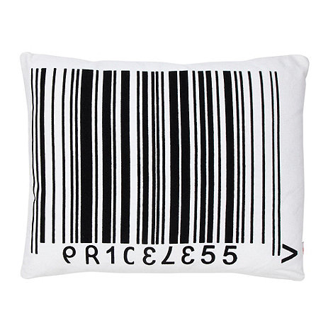 Ben de Lisi Home - White barcode canvas cushion
