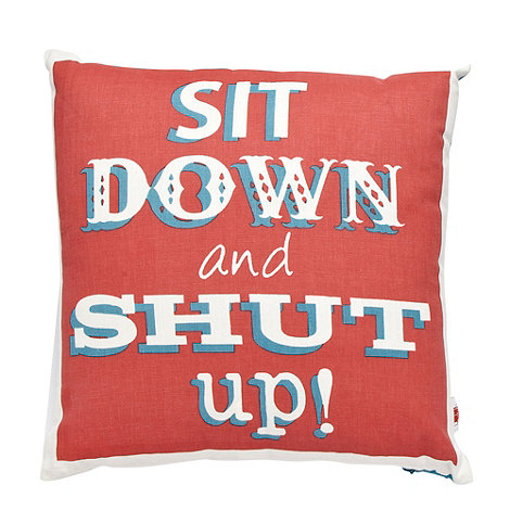 Ben de Lisi Home - Dark turquoise slogan printed cushion