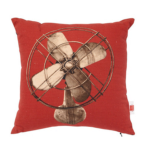 Ben de Lisi Home - Red fan motif cushion