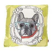 Ben de Lisi Home - Designer lime green sketched dog motif cushion