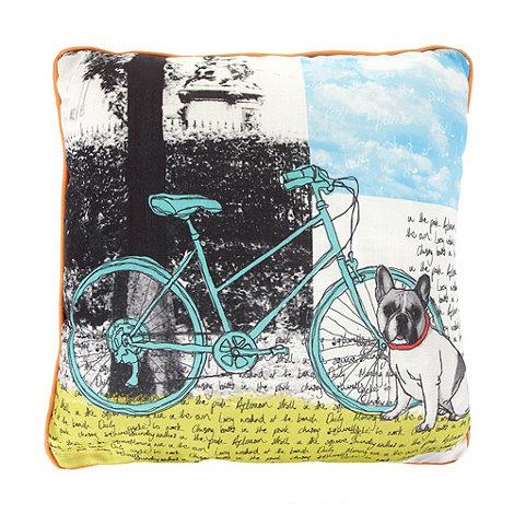 Ben de Lisi Home - Designer red sketched front cushion