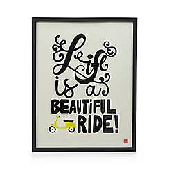 Ben de Lisi Home - Black 'Life Is A Beautiful Ride' wall art