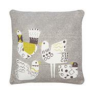 Designer blue houses cushion