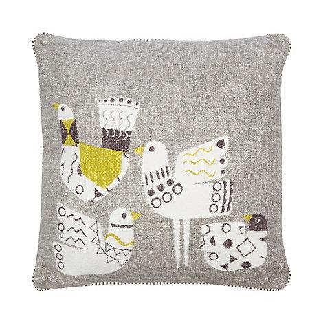 Ben de Lisi Home - Designer light blue geometric applique cushion