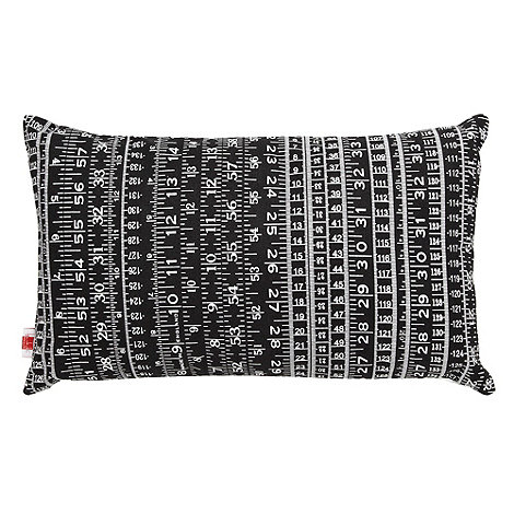 Ben de Lisi Home - Designer black tape measure cushion