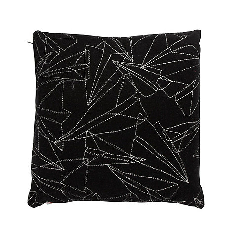 Ben de Lisi Home - Designer black paper planes embroidered cushion
