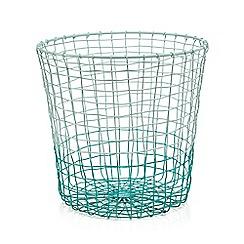 Ben de Lisi Home - Turquoise ombre-effect wire bin