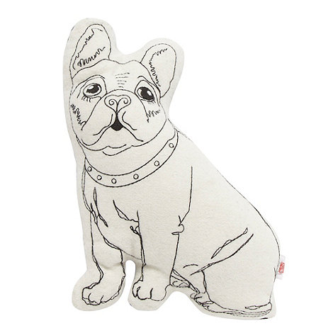 Ben de Lisi Home - Designer black French bulldog cushion