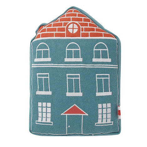 Ben de Lisi Home - Designer blue shaped house cushion