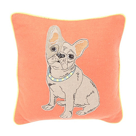 Ben de Lisi Home - Designer orange dog applique cushion