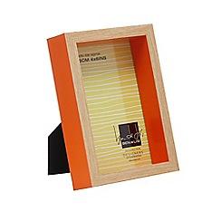 Ben de Lisi Home - Orange boxed photo frame