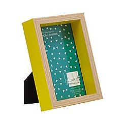 Ben de Lisi Home - Yellow boxed photo frame