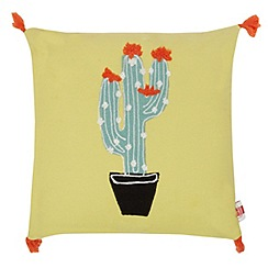 Ben de Lisi Home - Yellow cactus applique cushion