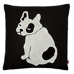 Ben de Lisi Home - Black bulldog applique cushion