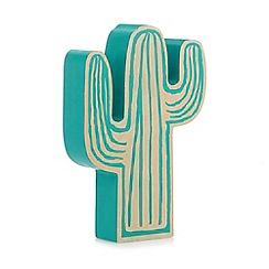 Ben de Lisi Home - Green wooden cactus ornament