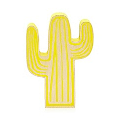 Ben de Lisi Home - Yellow wooden cactus ornament