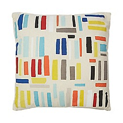 Ben de Lisi Home - Multi-coloured paintbrush print cushion