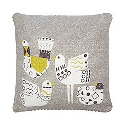 Ben de Lisi Home - Grey and yellow bird print cushion