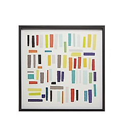Ben de Lisi Home - Multi-coloured block wall art