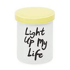 Ben de Lisi Home - White 'Light up my life' candle